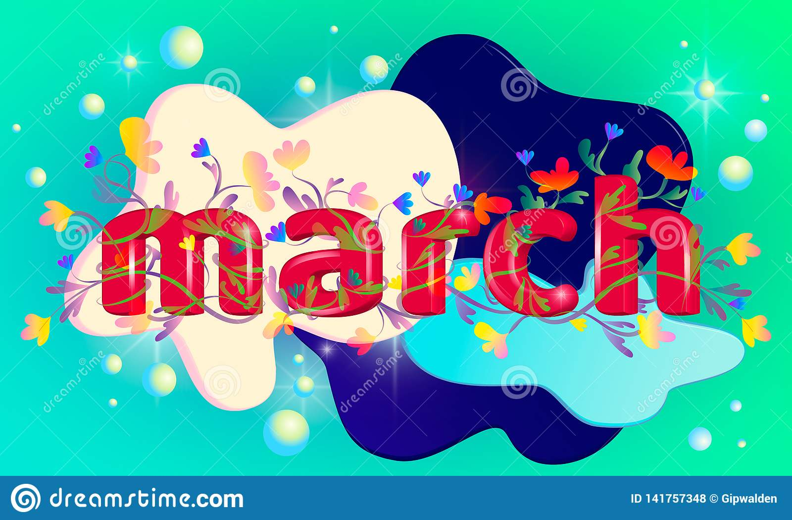 3d inskrypcja słowo «marsze
