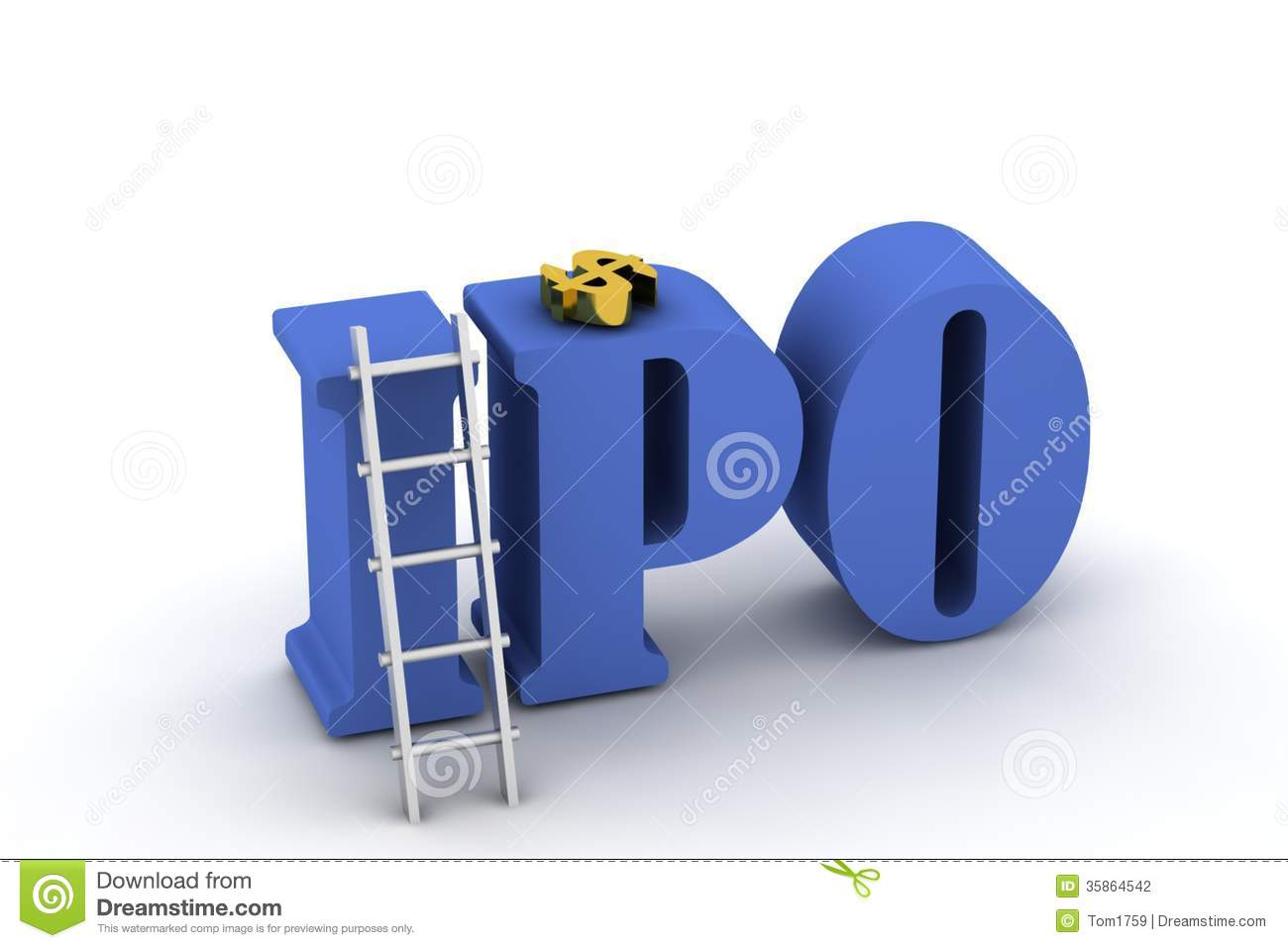 3d letters and a ladder in white background.