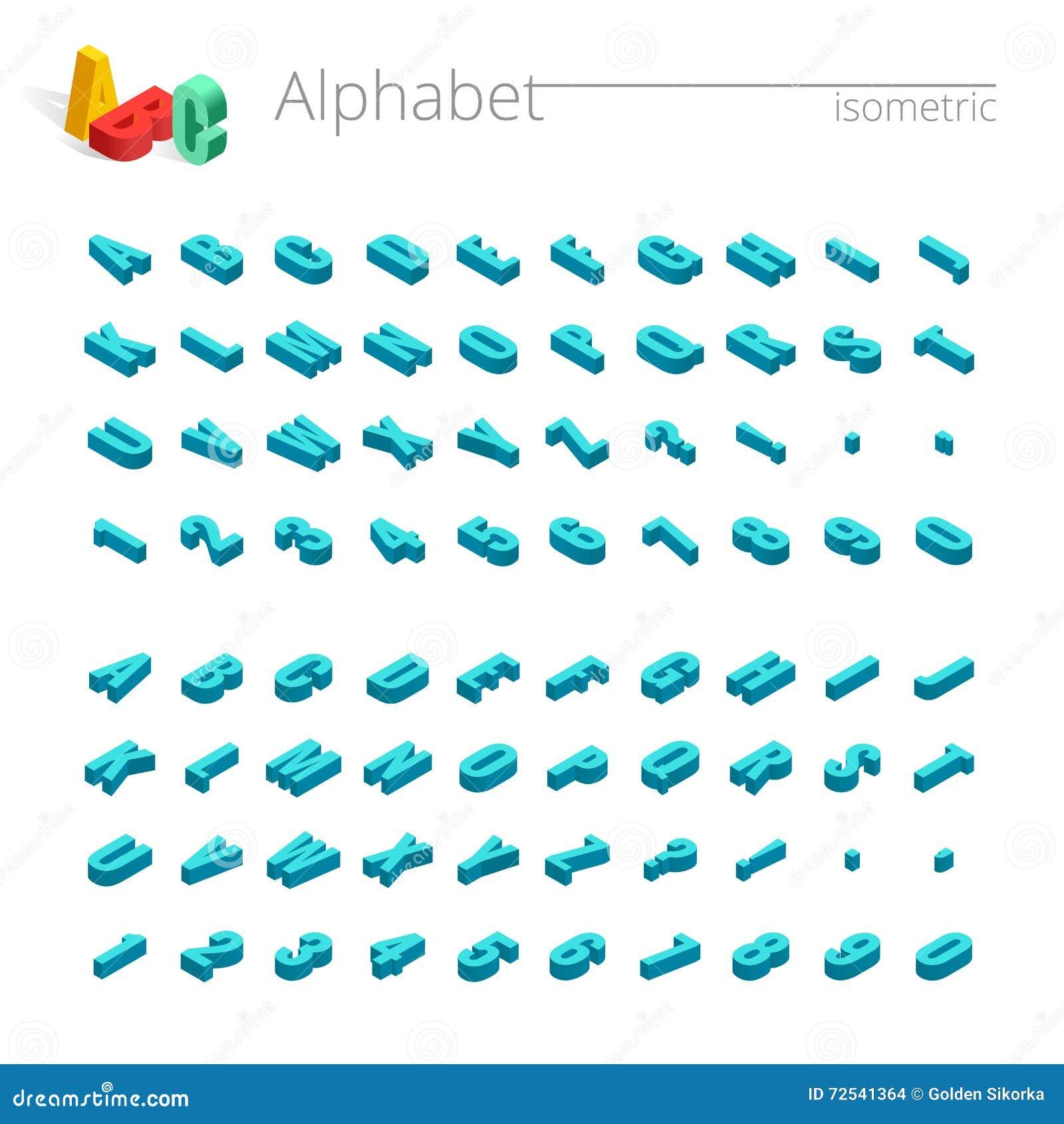3d Isometric Alphabet Vector Font. Isometric Letters ...