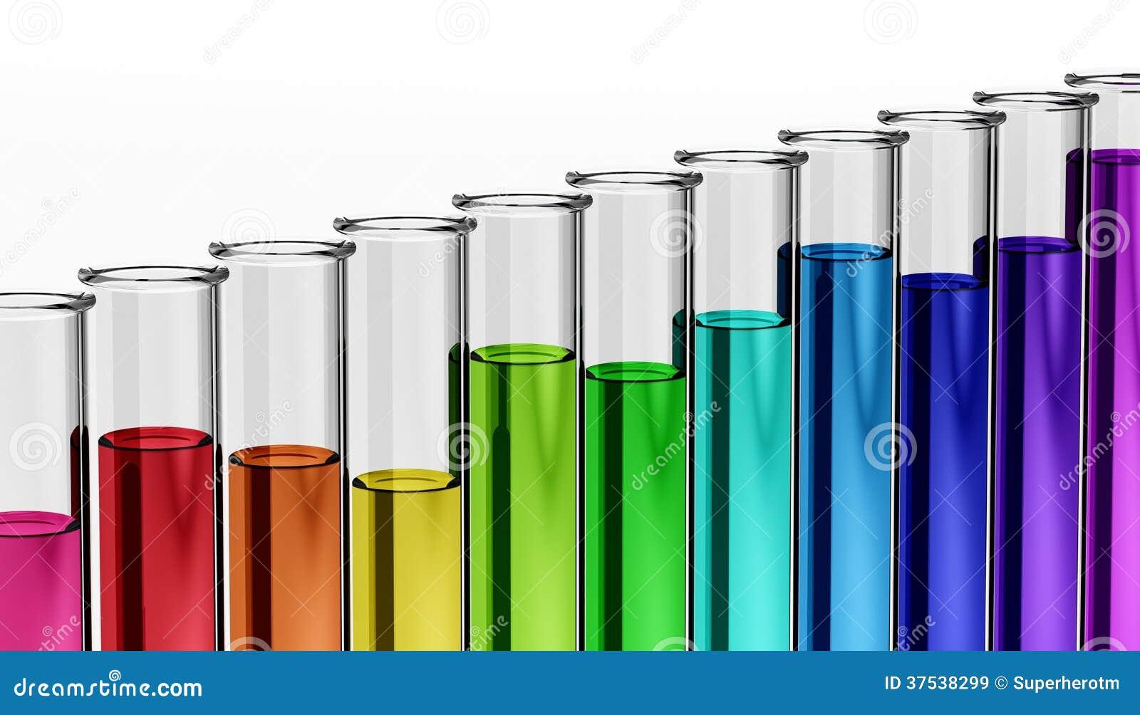 3d - kemi - forskning - provrör - kemikalie