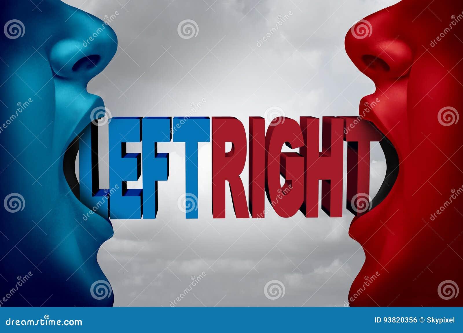 3d kierunku dobro ilustracyjny lewy polityczny odpłacający się
