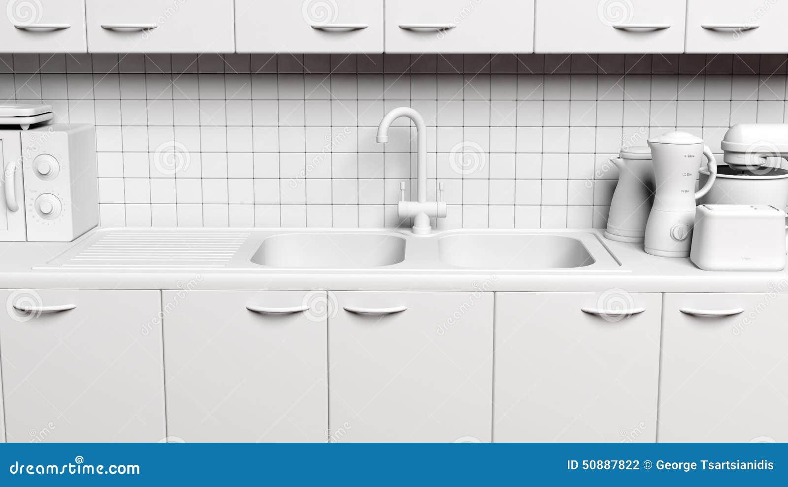 3d Kitchen Cabinet Stock Illustration Image 50887822