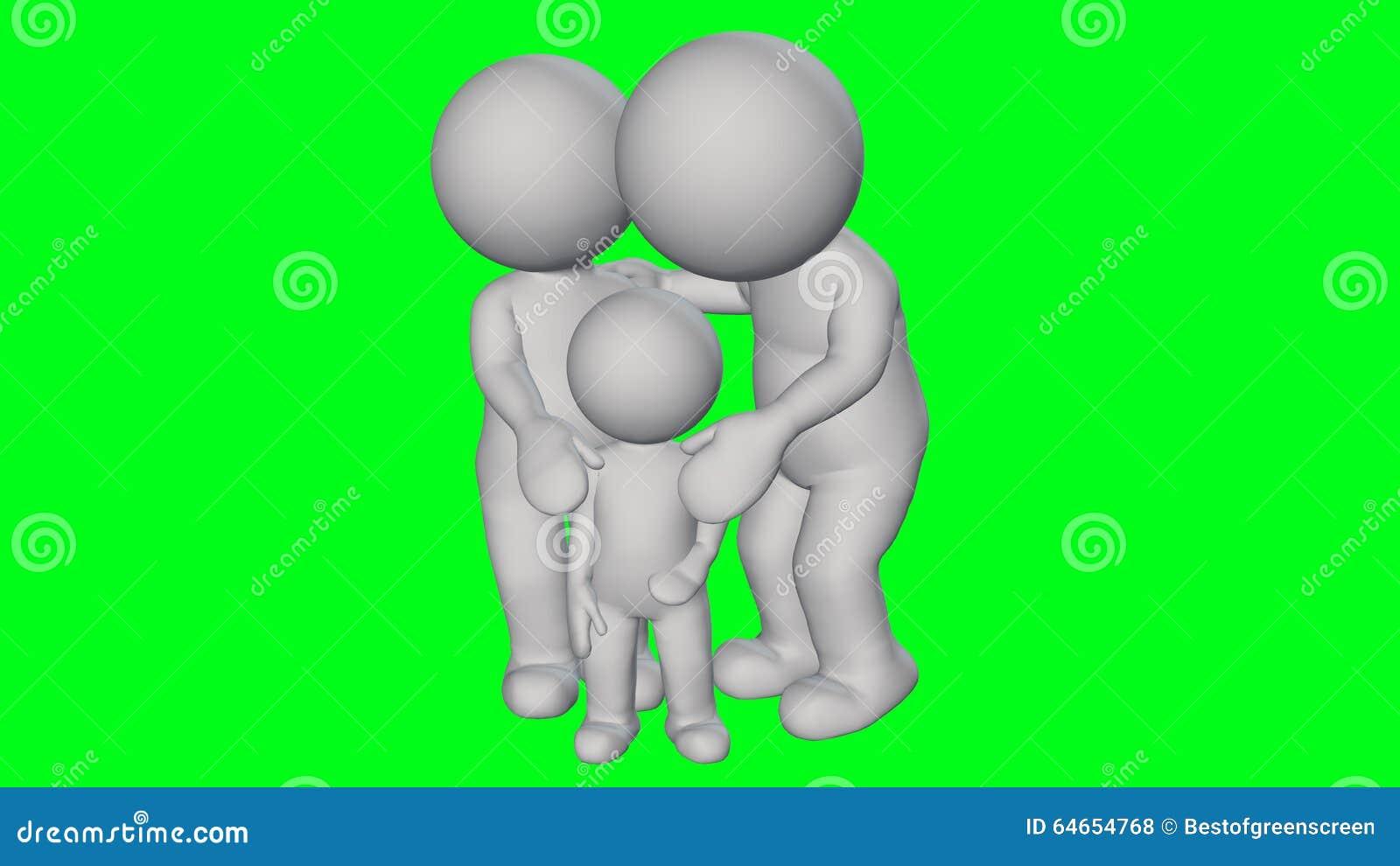 3D la gente - piccola famiglia
