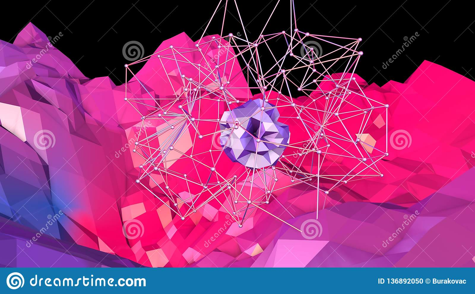 3d lage poly abstracte geometrische achtergrond met moderne gradiëntkleuren 3d kleuren van de oppervlakte blauwe rode violette gr