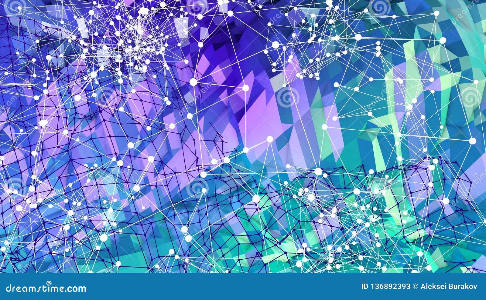 3d lage poly abstracte geometrische achtergrond met moderne gradiëntkleuren 3d kleuren 6 van de oppervlakte blauwgroene gradiënt