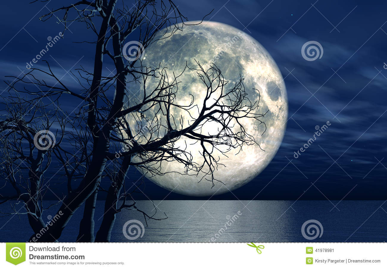 More similar stock images of 3d landscape with fall tree - 3d Landscape Background With Moon And Tree Stock Image