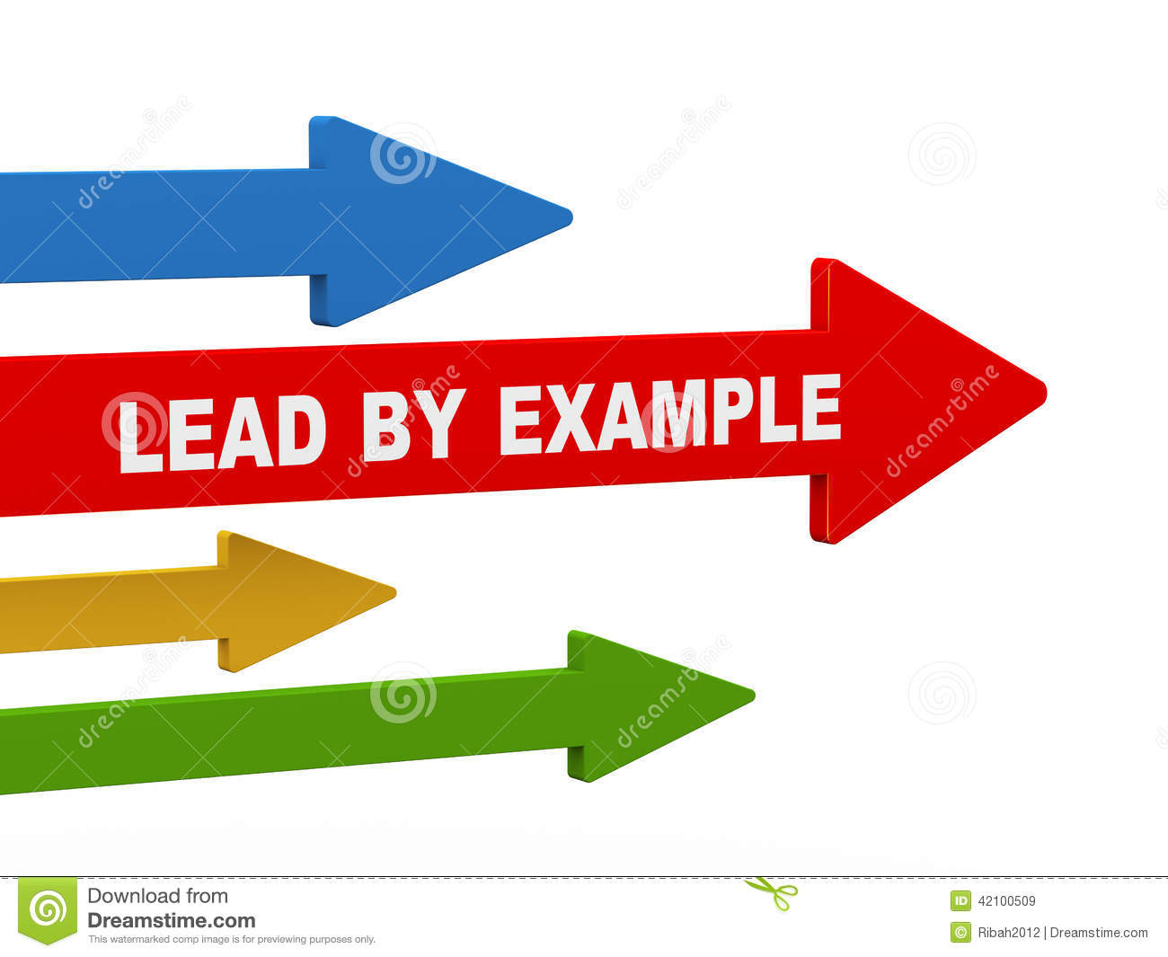 3d lead by example arrow stock illustration illustration of achieve