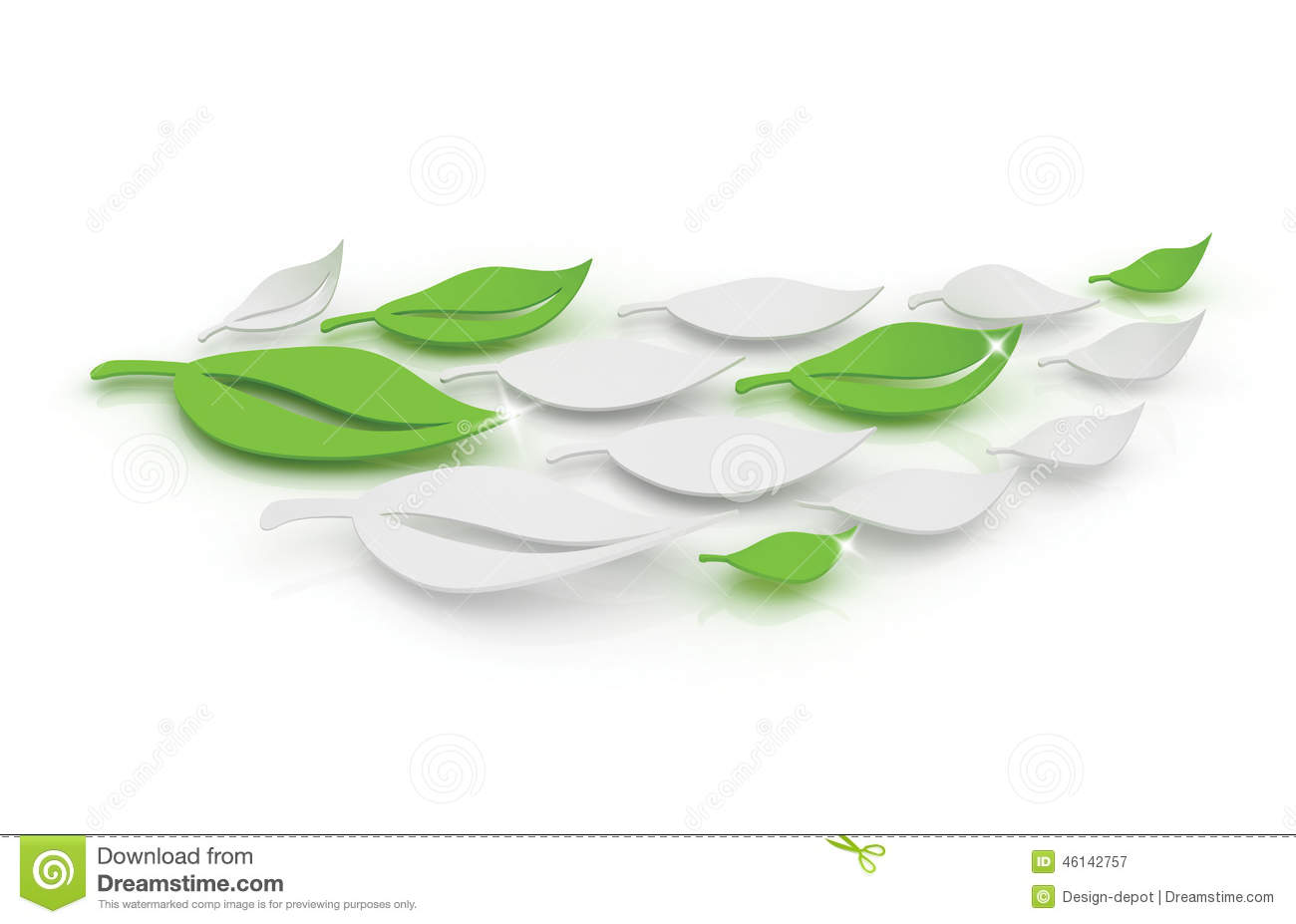 3D Leaves stock illustration  Illustration of icon, decoration