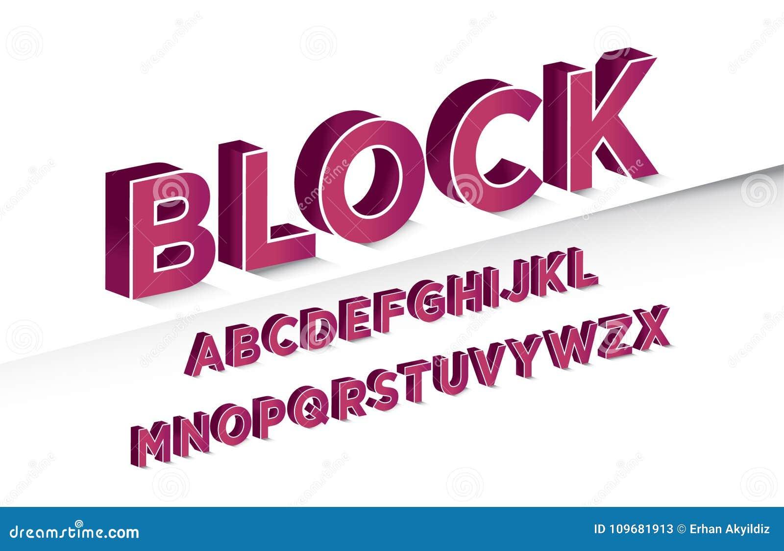 3d Letters Design Stock Vector Illustration Of Good 109681913