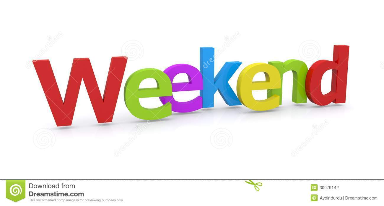 3D Word Weekend Stock Photography - Image: 30079142