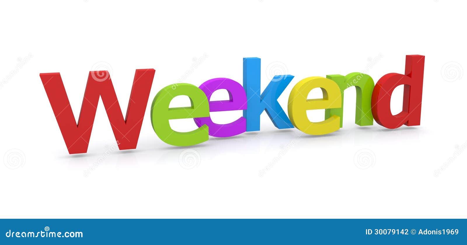 3D słowa weekend