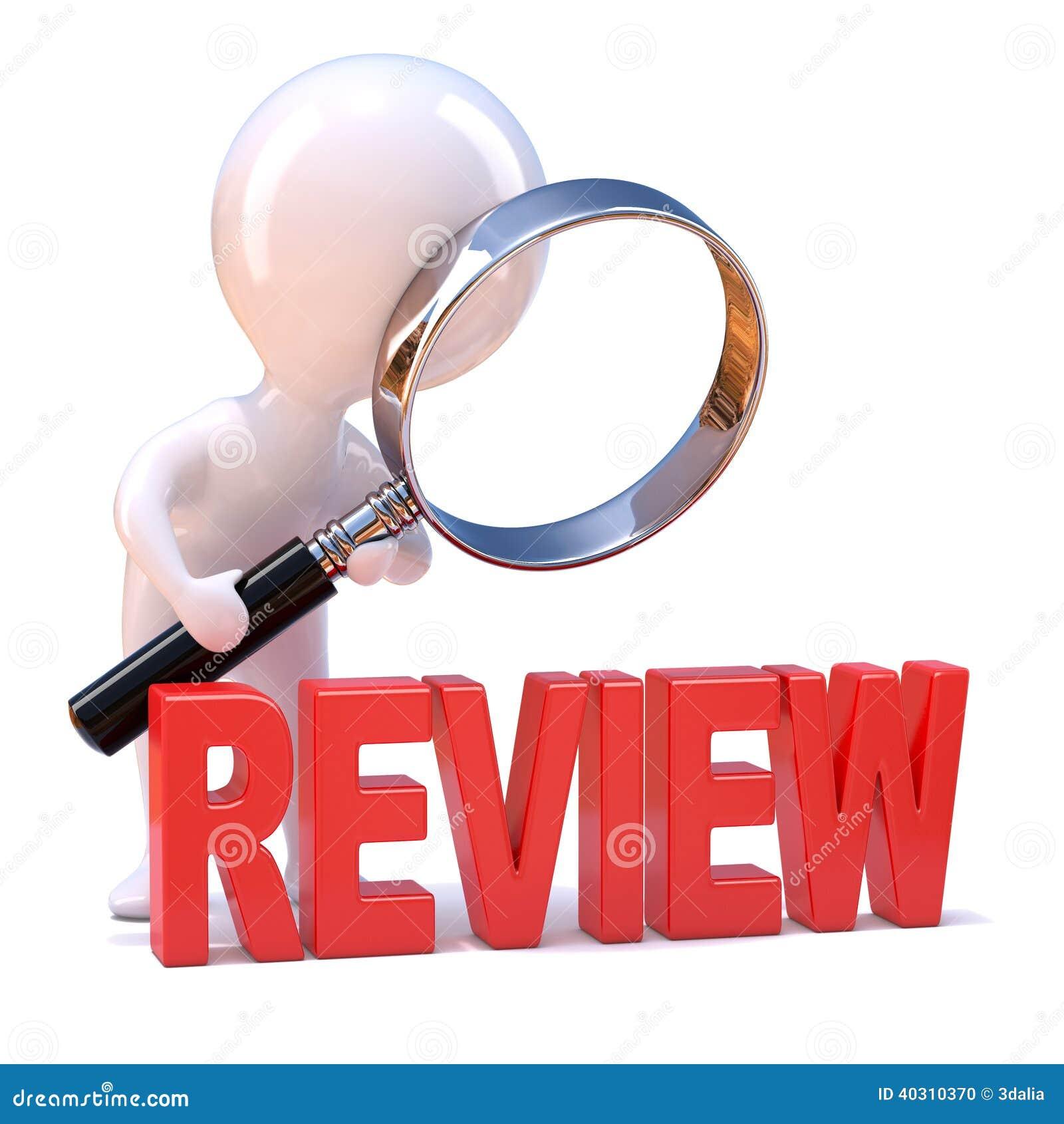 3d Little Man Studies The Review Stock Illustration