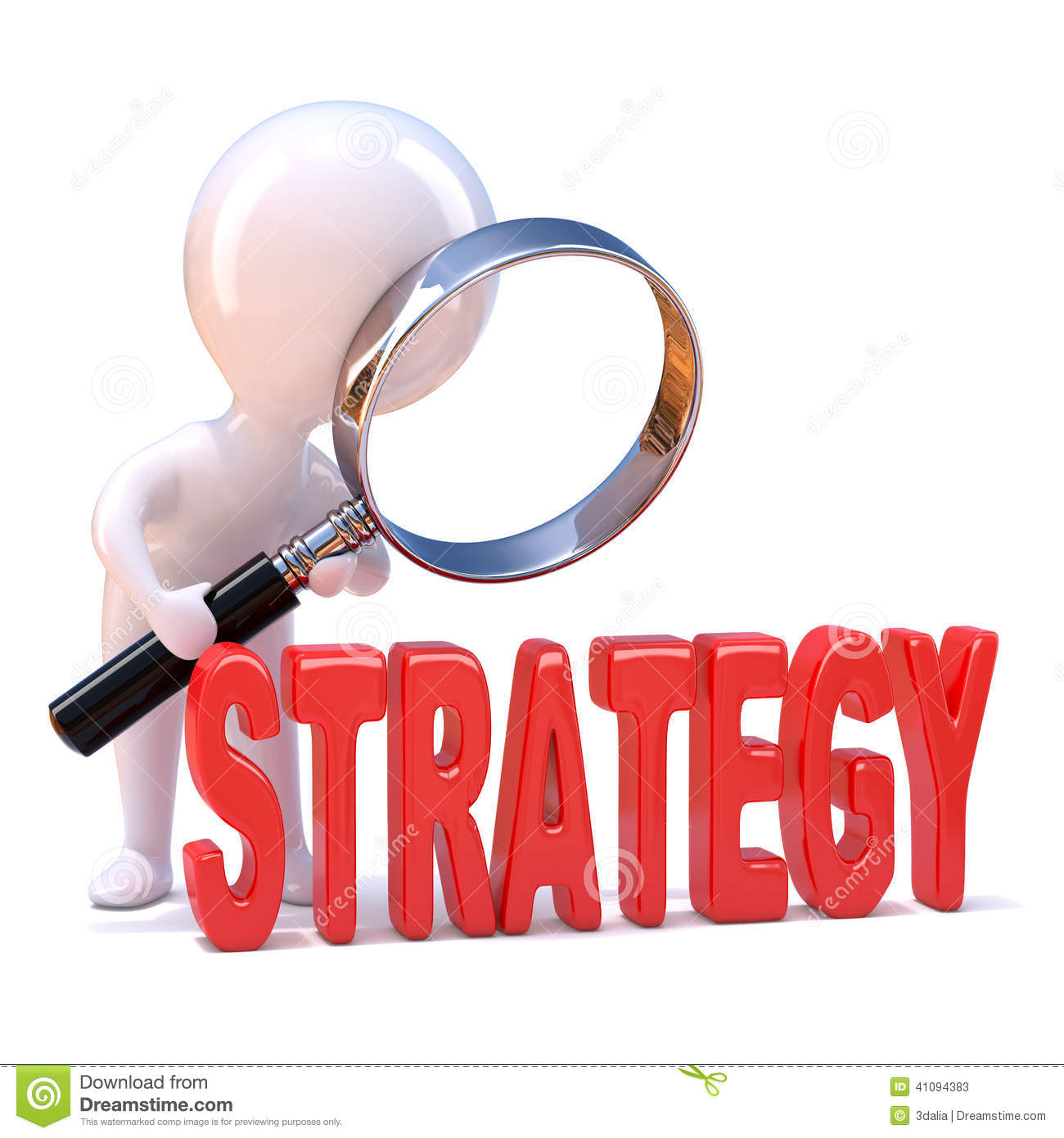 3d little man studies strategy stock illustration image clipart magnifying glass free clip art magnifying glass border