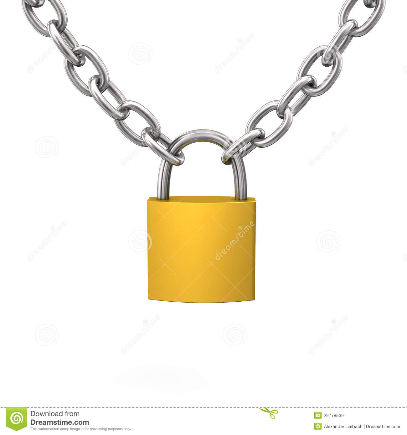 Door Lock Chain D Lock Chain Royalty Free Stock Images Image 29778539