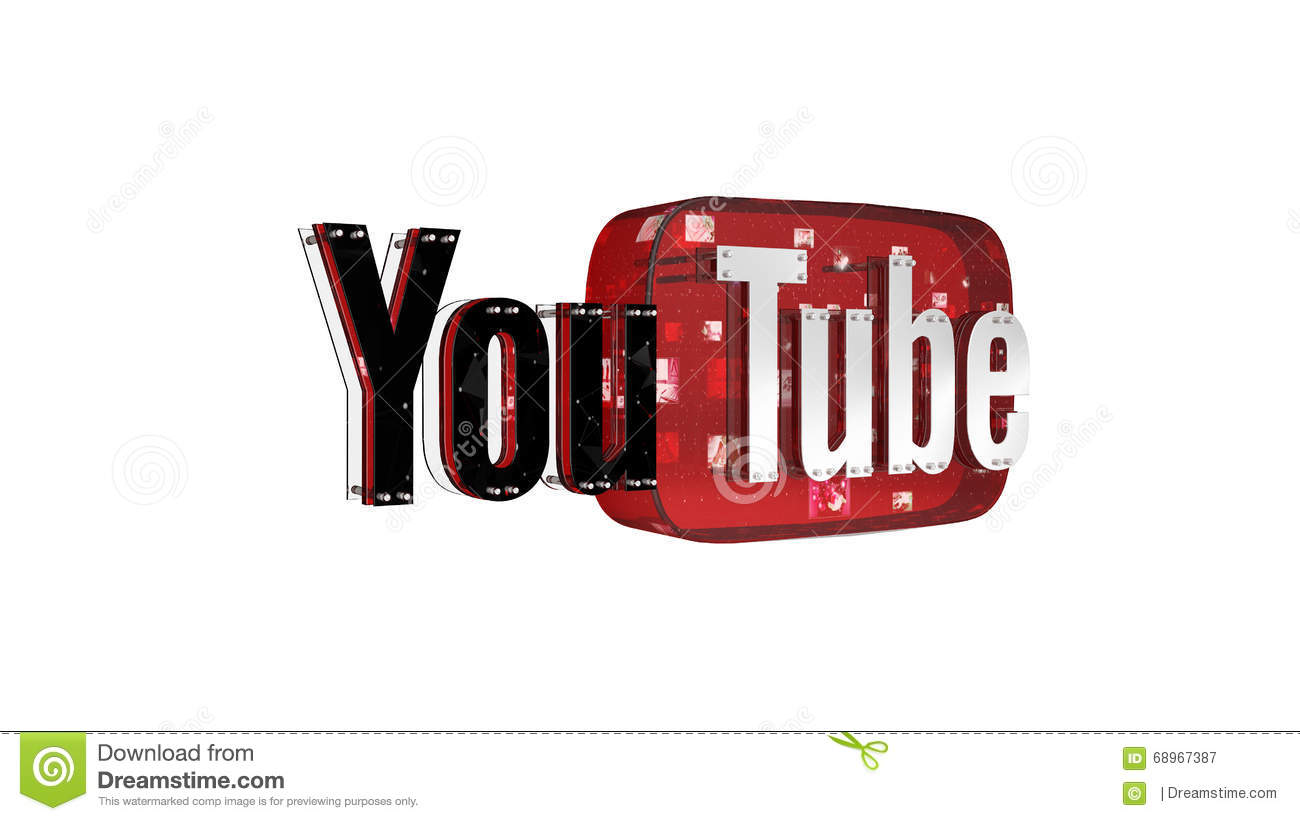 The 3D Logo Of The Brand Youtube Editorial Stock Photo ...