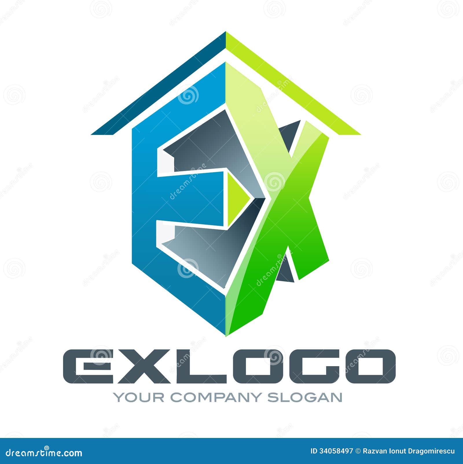 3D Logo EX Royalty Free Stock Photography - Image: 34058497