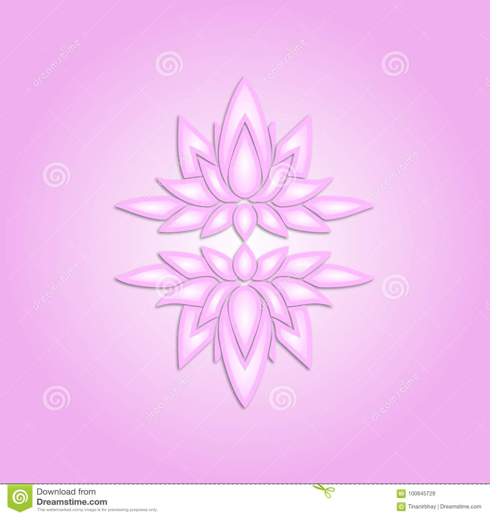 3d Lotus Flower Background Pattern Stock Vector Illustration Of