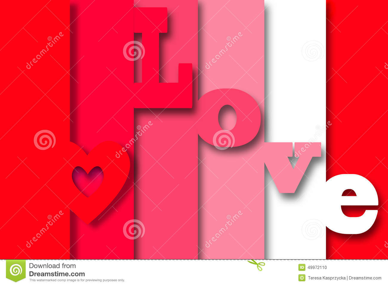 3d love card stock illustration illustration of emotion 49972110