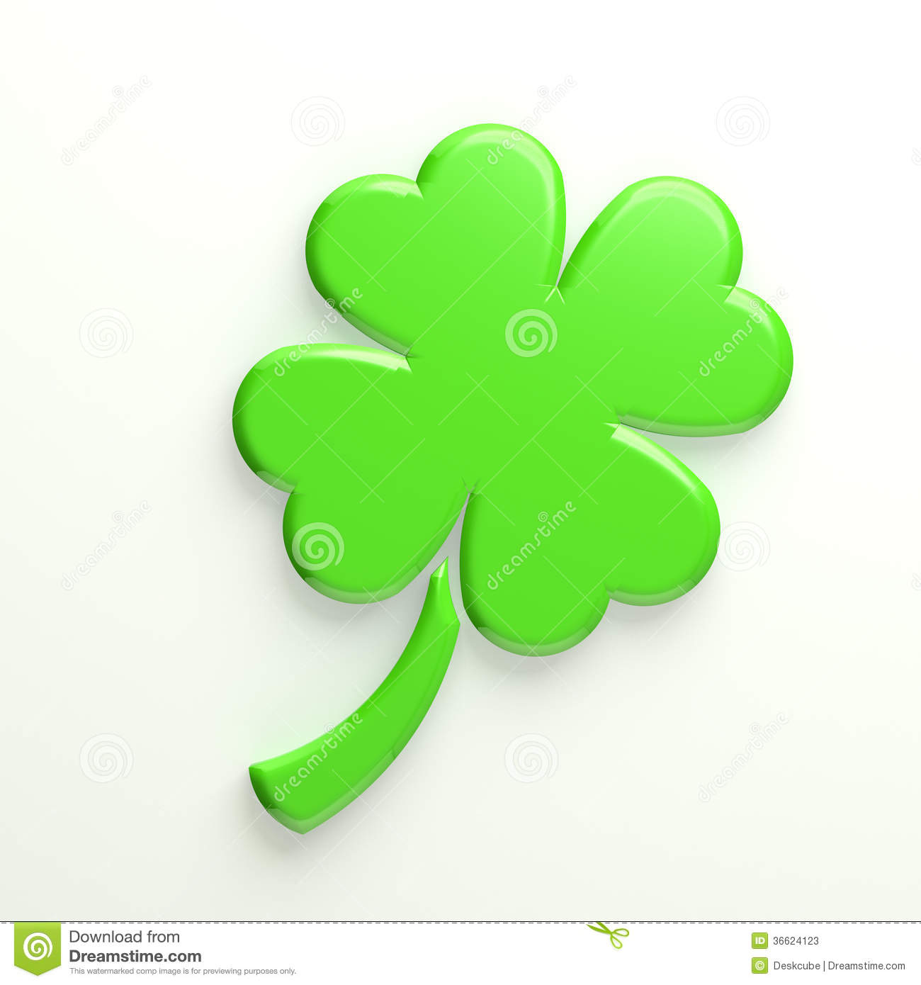 3D Lucky Clover stock illustration  Illustration of patrick - 36624123