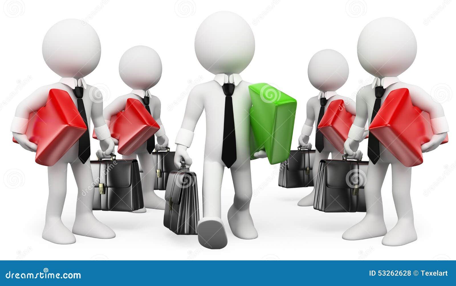 3d ludzie pytanie biel przedsiębiorca lider Biznesmena sukces