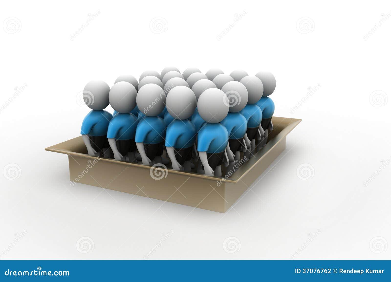 Download 3d Ludzie W Pudełku, Drużynowy Pracy Pojęcie Ilustracji - Ilustracja złożonej z nowy, świętowanie: 37076762