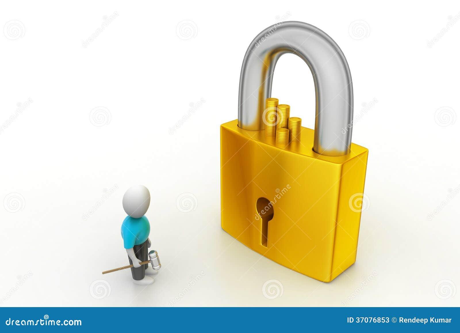 Download 3D Mężczyzna Trzyma A   Klucz I Kłódka Ilustracji - Ilustracja złożonej z kontrola, zamknięty: 37076853