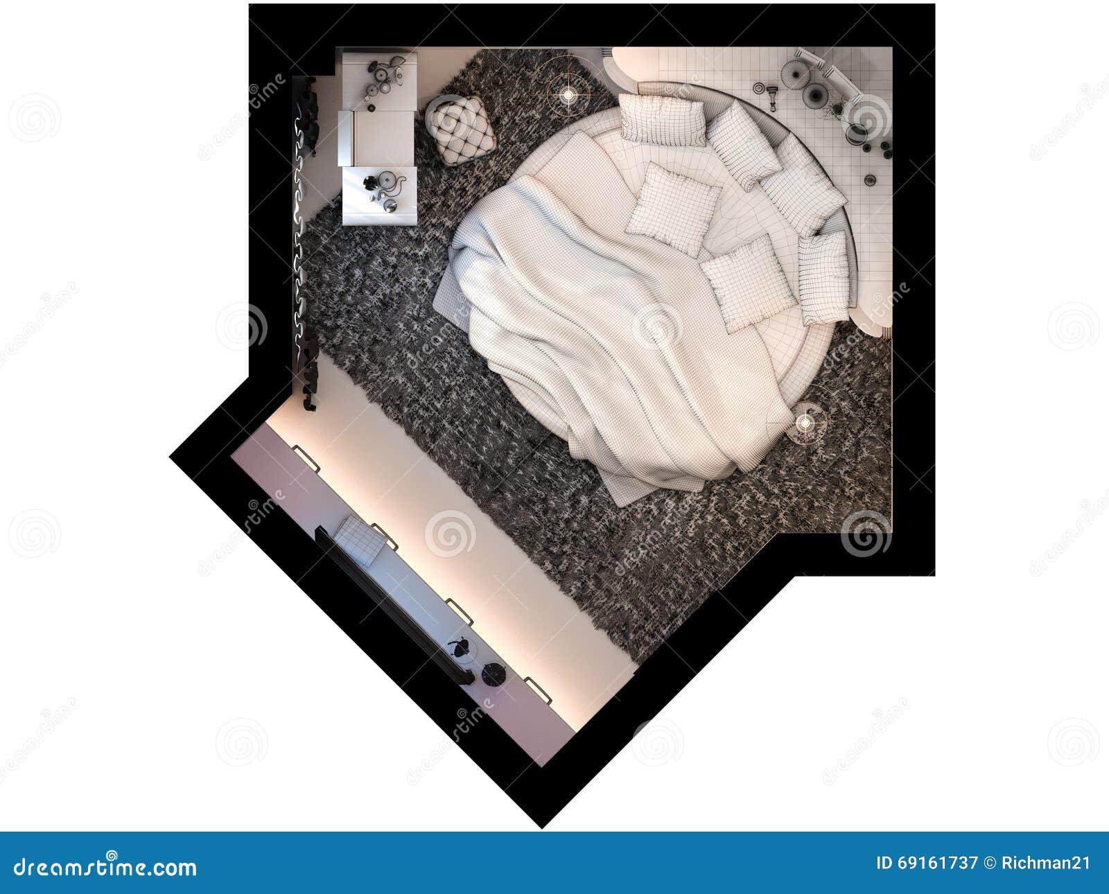 3d Machen Innenarchitekturschlafzimmer Angezeigt In Der ...