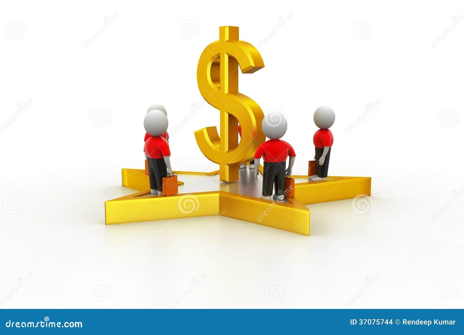 Download 3d Mali Ludzie Stoi Na Dolarowym Znaku I Gwiazdzie Ilustracji - Ilustracja złożonej z znacząco, oszczędzania: 37075744