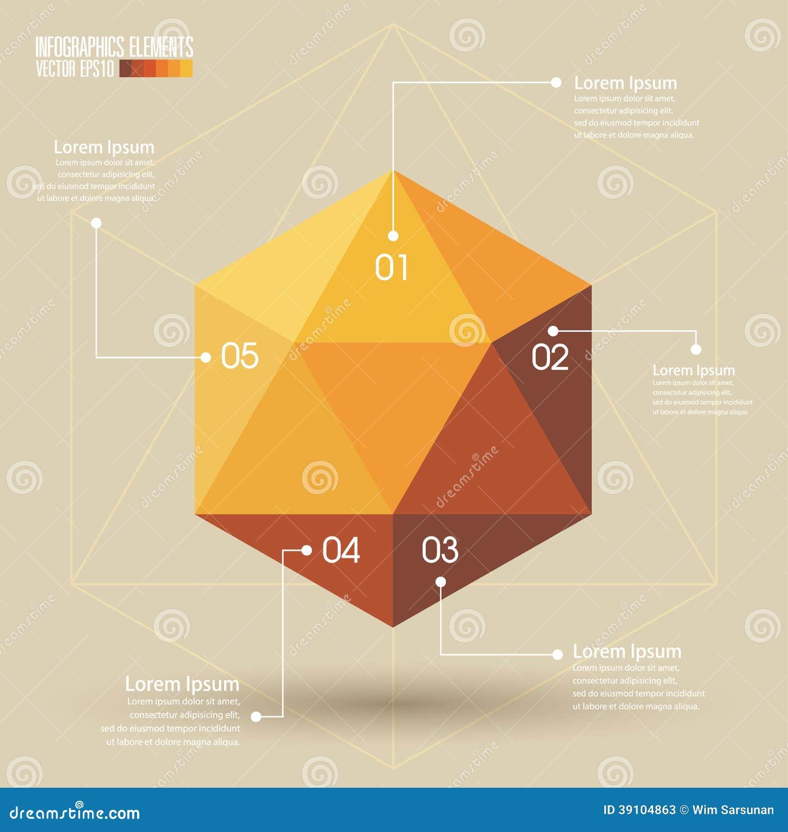 3d malplaatje van meetkundeinfographics