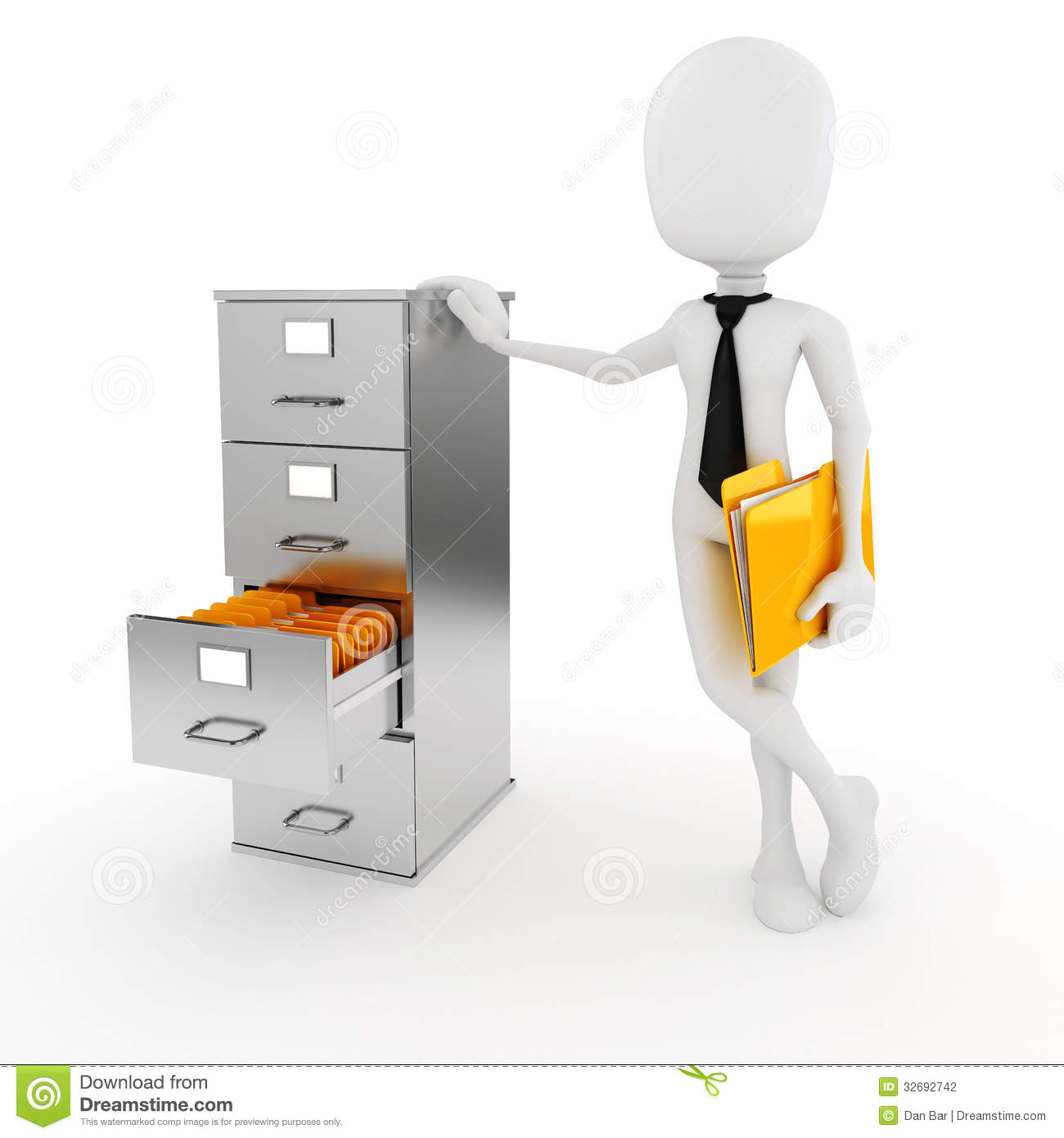 3d Man Business Man And File Cabinet Royalty Free Stock Image ...