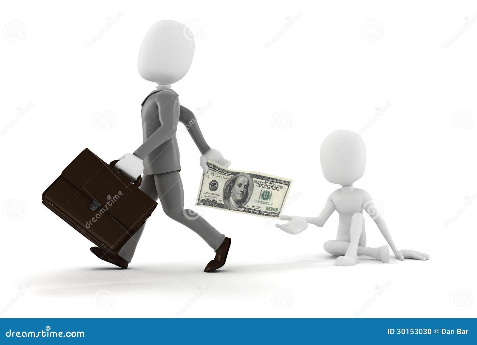 White man money