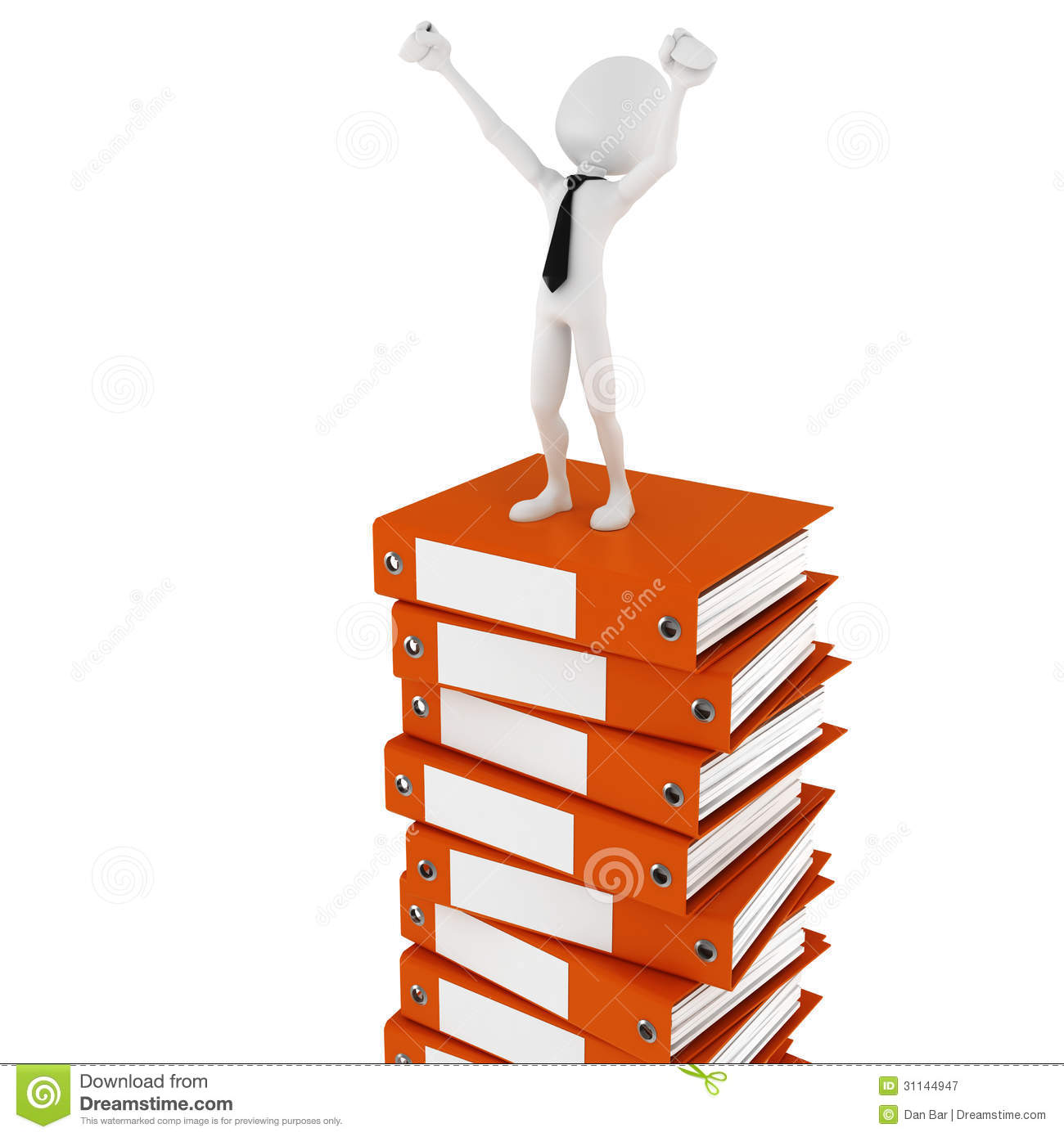 3d Man Businessman On A Pile Of Blank Documents Royalty Free – Blank Document Free