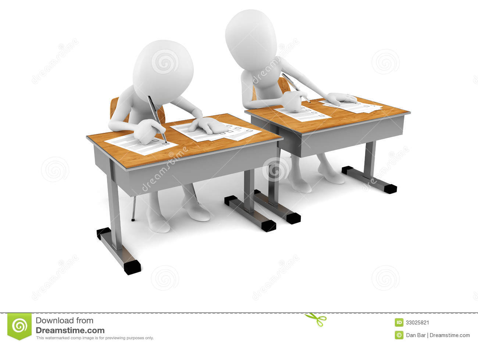 3d man in classroom exam test stock illustration illustration of pencil knowledge 33025821. Black Bedroom Furniture Sets. Home Design Ideas