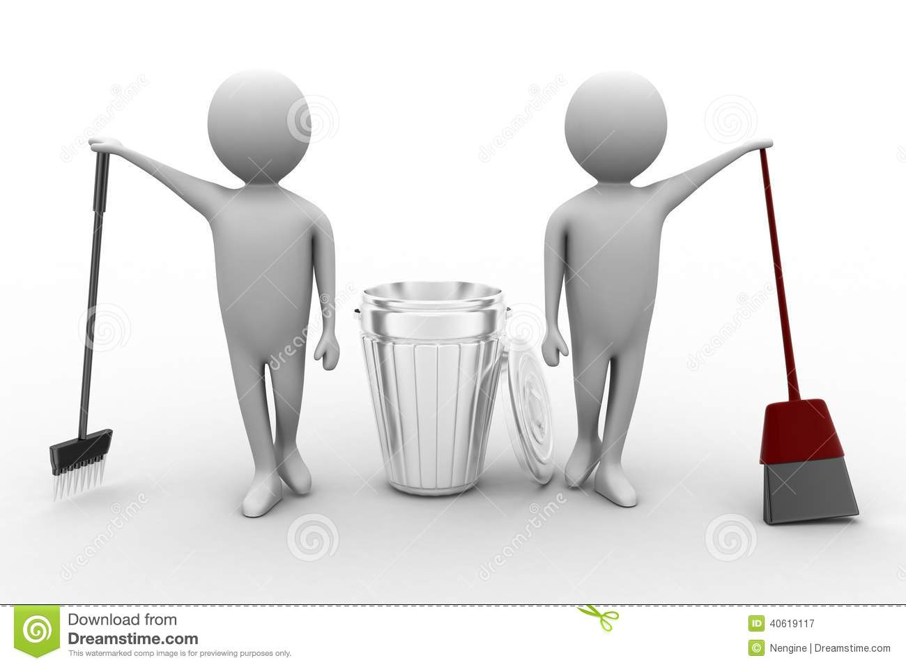 Royalty Free Stock Photography: 3d man with cleaning service. Image ...