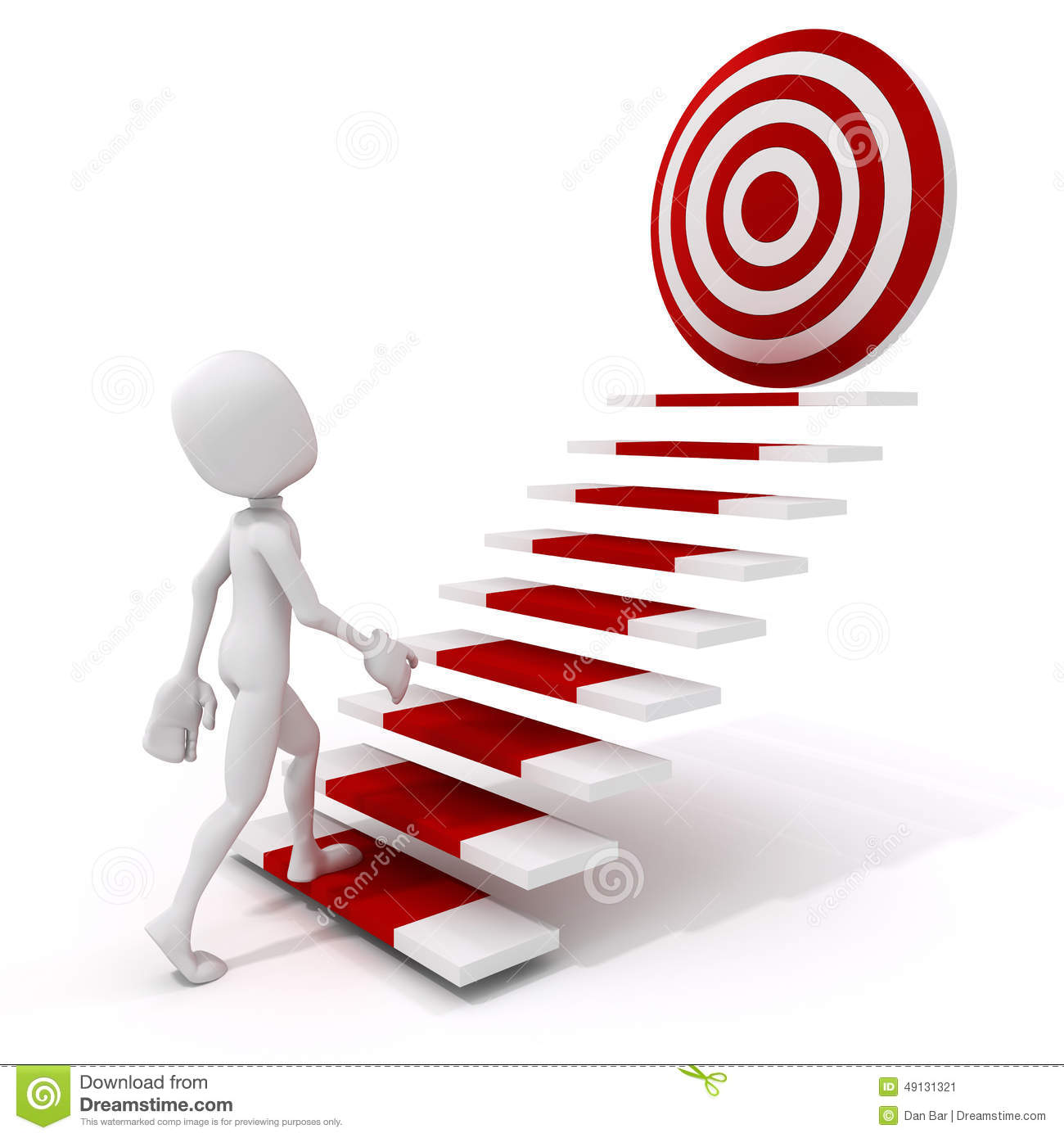3d Man Climbing On A Stair To Success Stock Illustration ... for Climbing Stairs To Success  113cpg