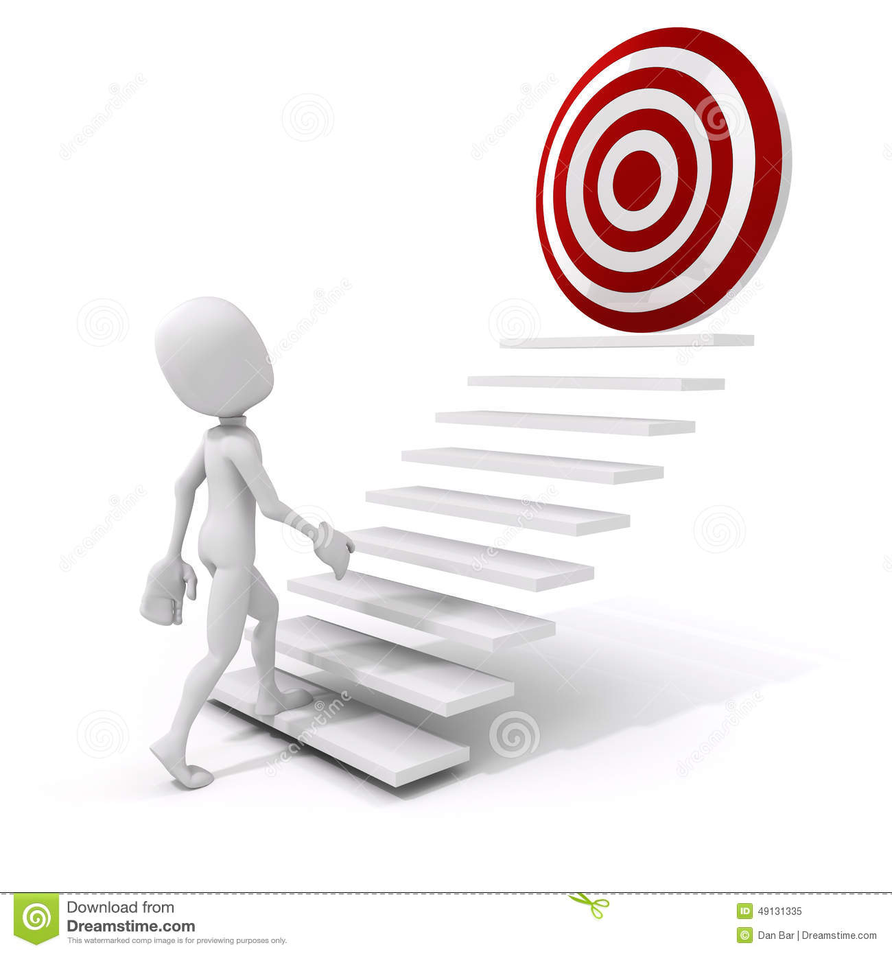 3d Man Climbing On A Stair To Success Stock Illustration ... for Climbing Stairs To Success  587fsj