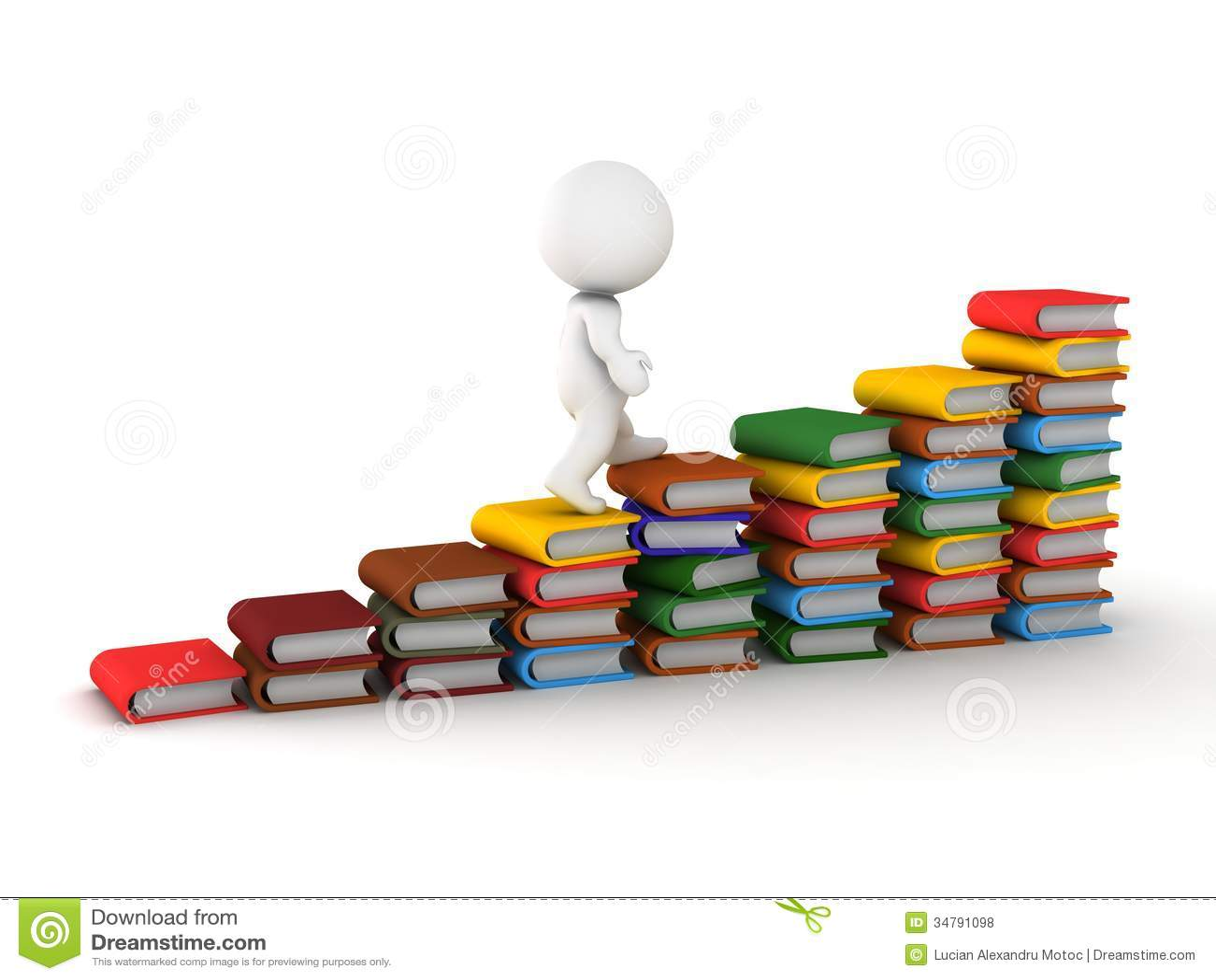 Climbing books stock illustration. Illustration of study - 27514279 for Student Climbing Ladder  186ref