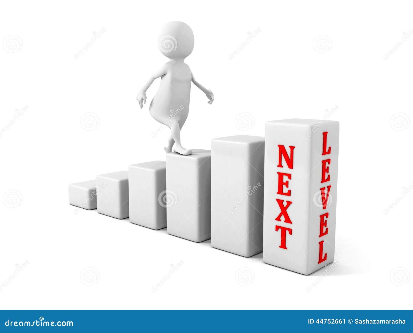 d man climbs up to next level success career concept render illustration 44752661
