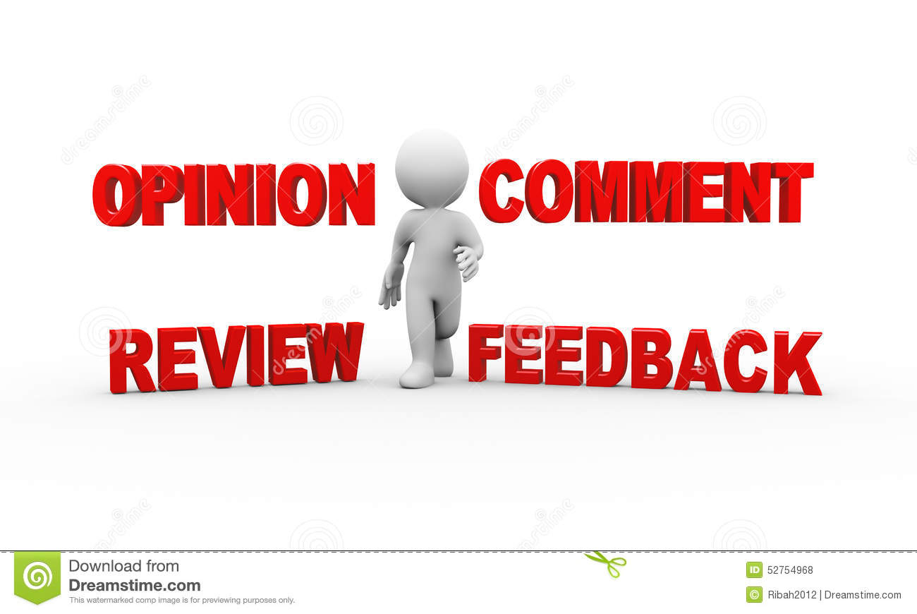 3d Man With Comment Feedback Opinion Stock Illustration