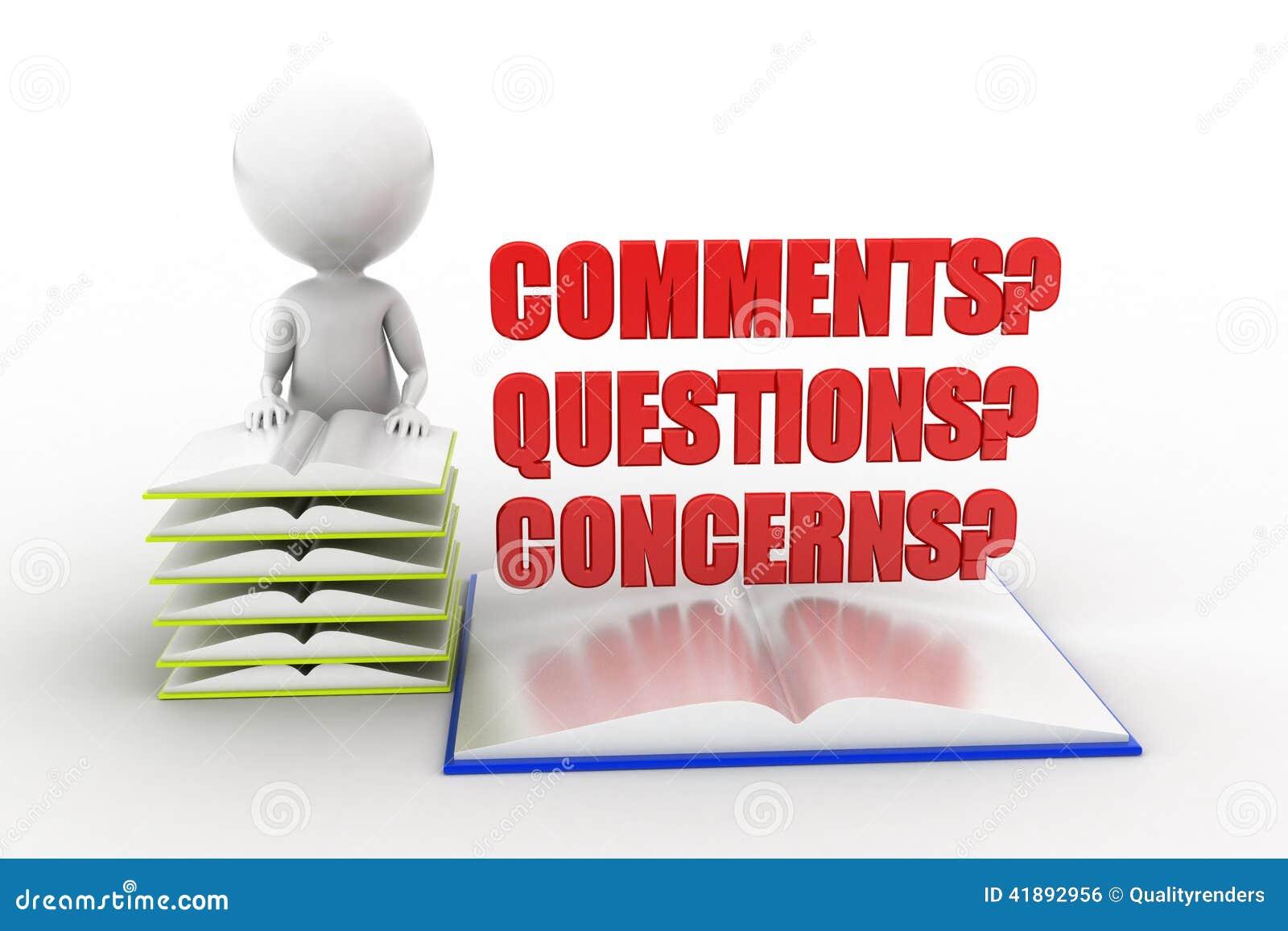 3d man comments questions concerns stock illustration for Images comment pics