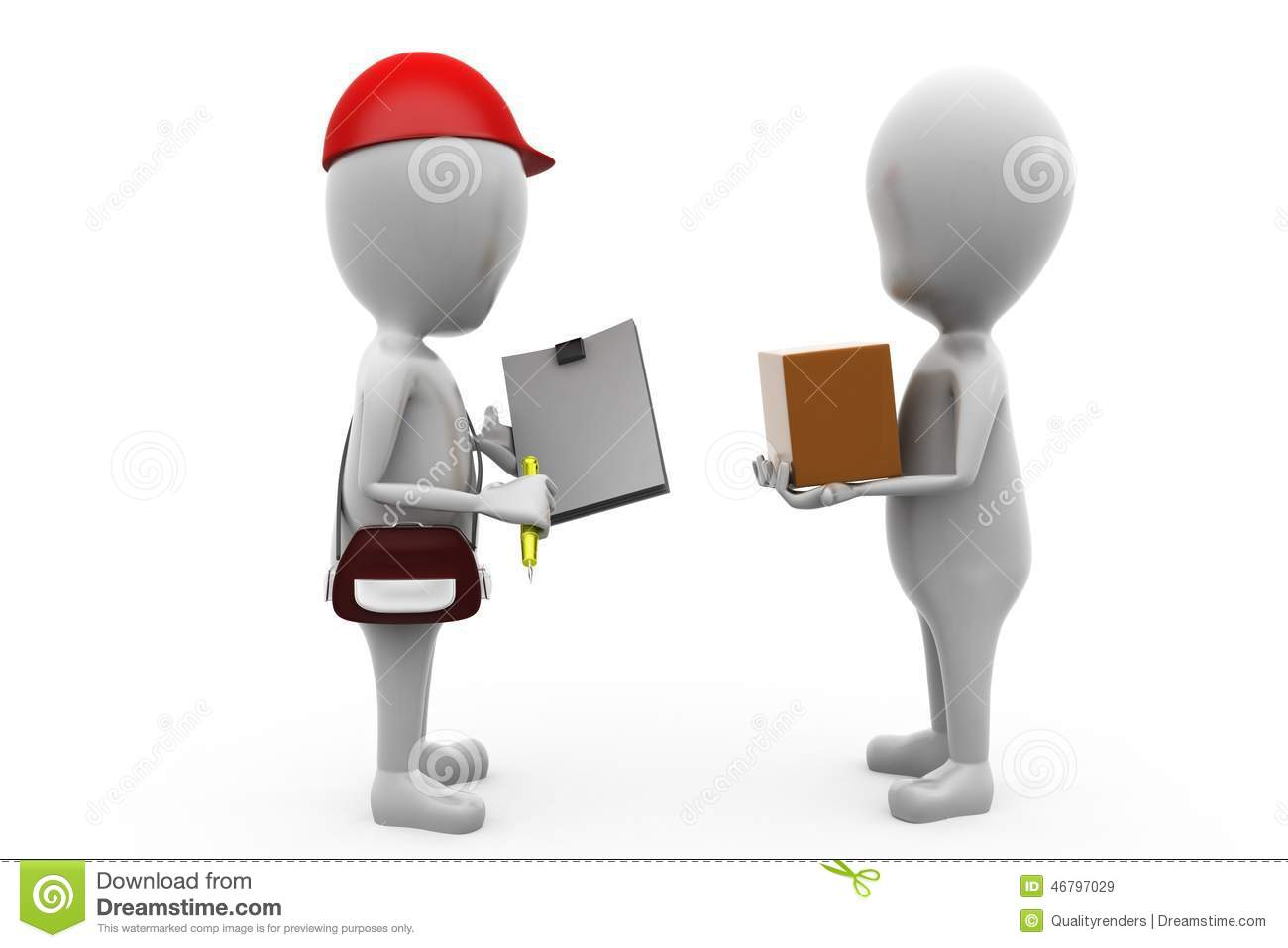 Royalty Free Stock Images 3d Man Delivery Man Concept