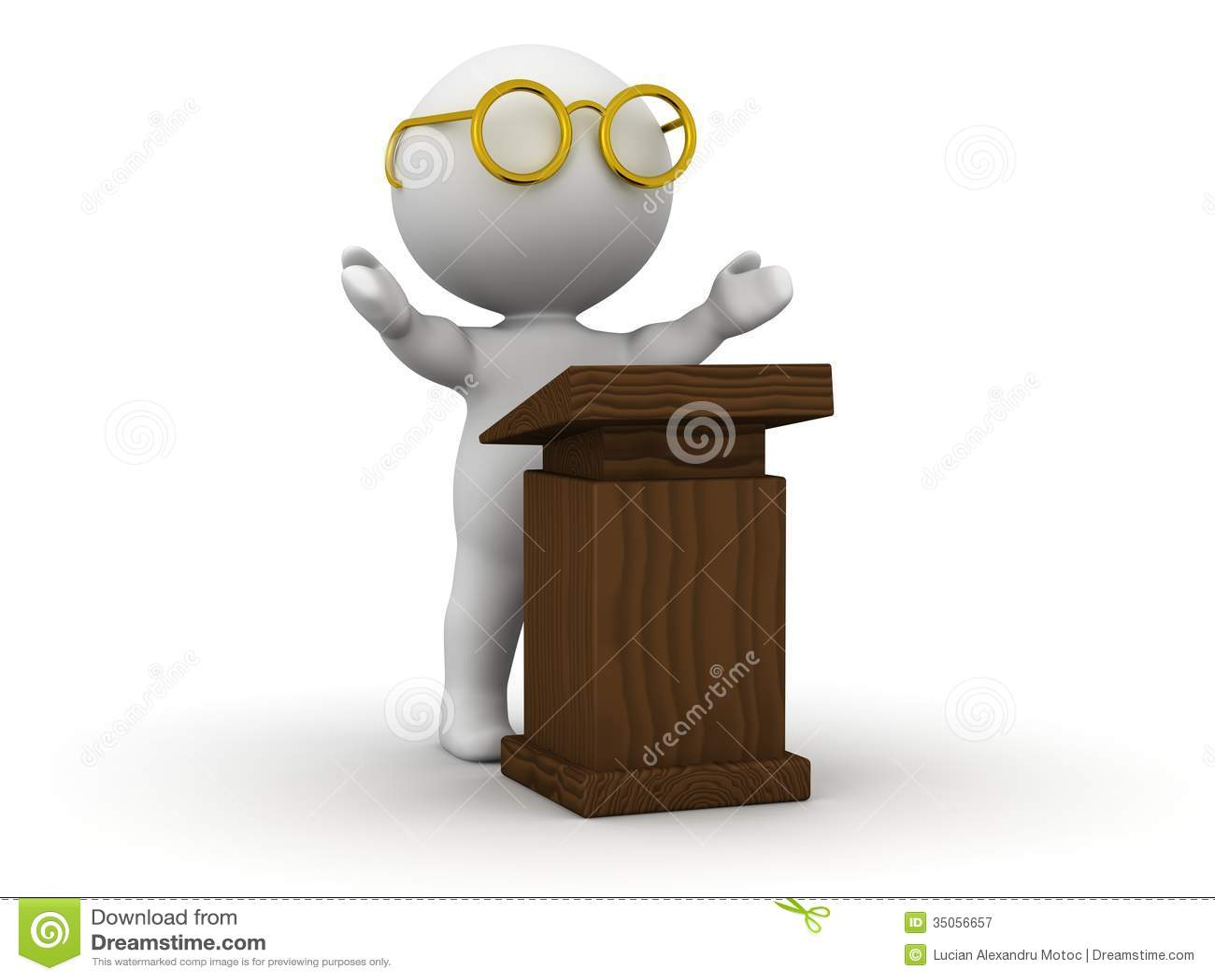 Giving A Speech...
