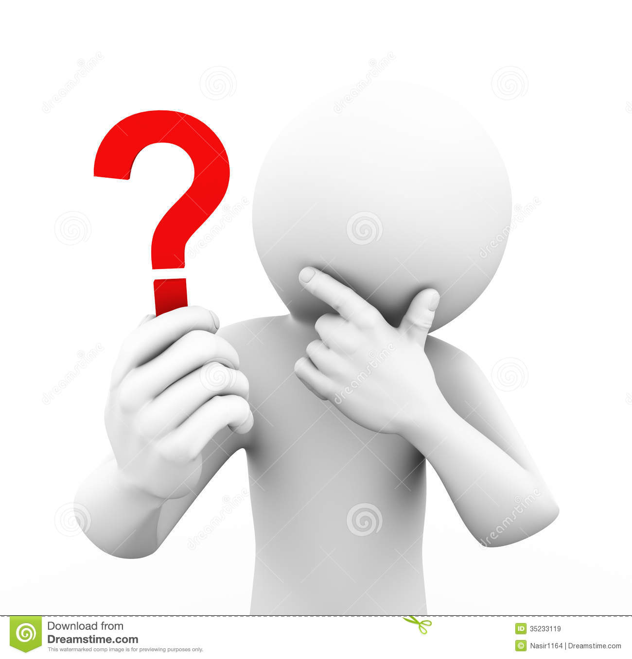 3d Man Holding And Looking At Question Mark Royalty Free ...