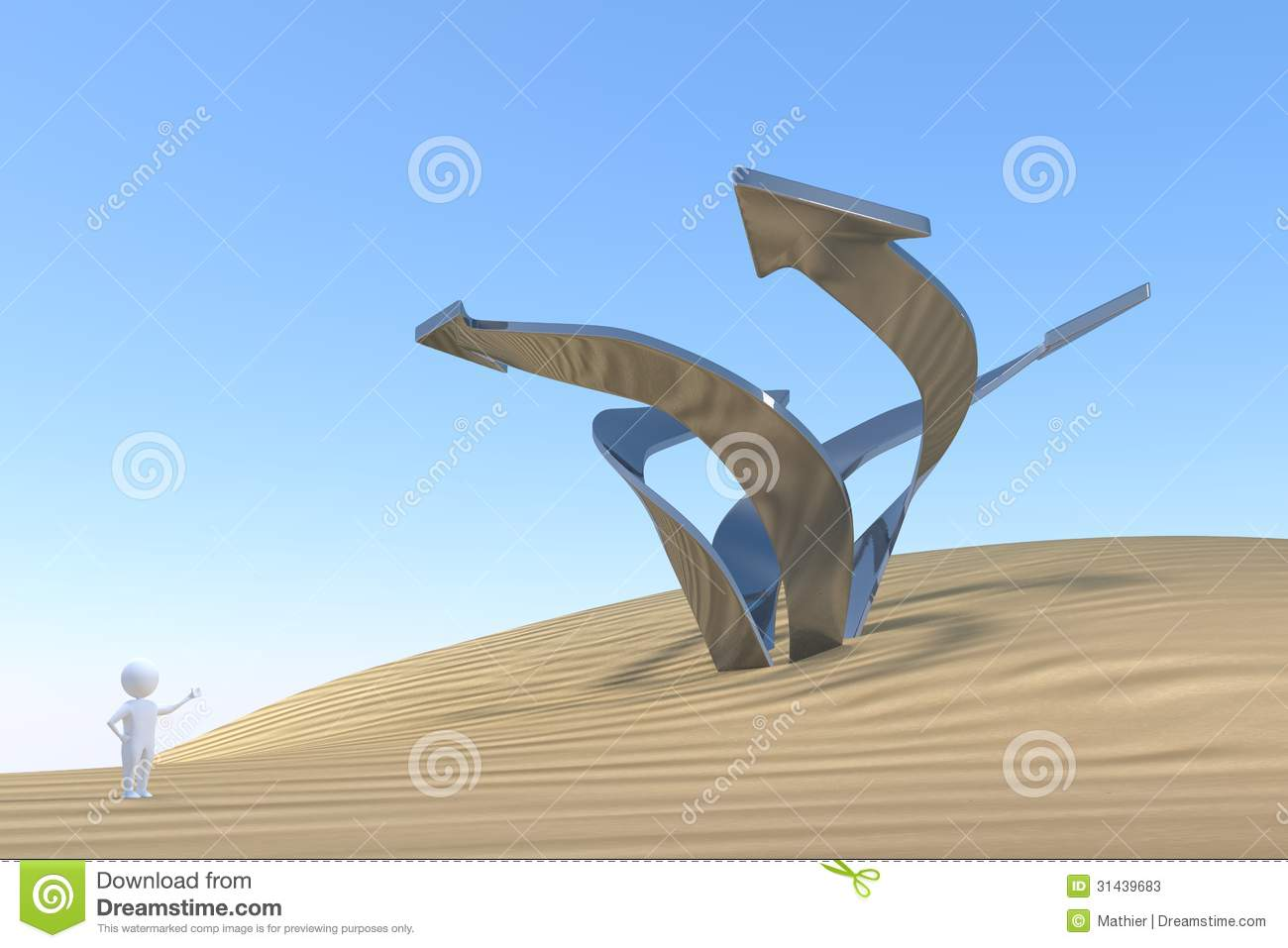 3D Man - Imagination Stock Photos - Image: 31439683