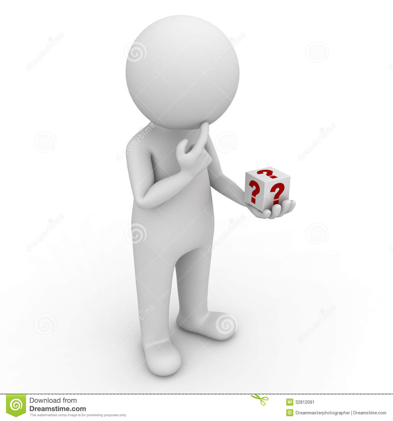 3d man looking at question box in his hand and thinking clip art question mark symbols clip art question mark frames