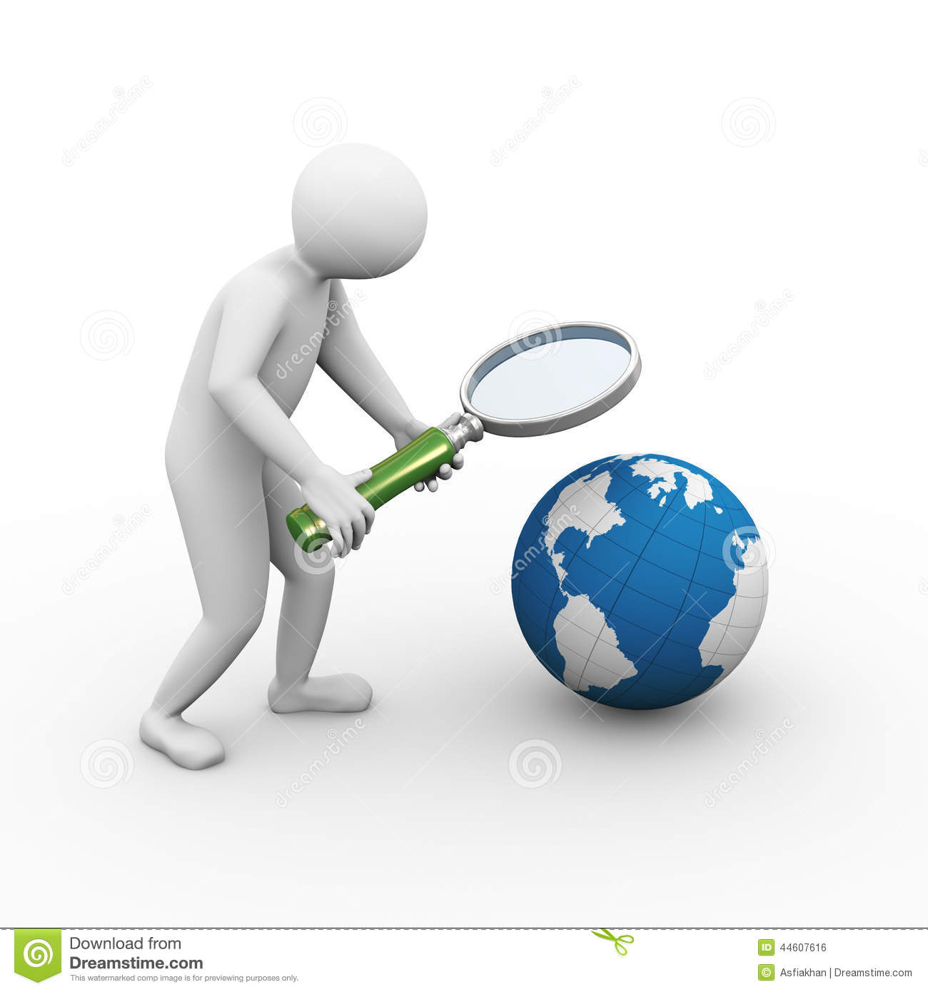 Searching Man With Magnifier Royalty Free Stock Images - Image ...