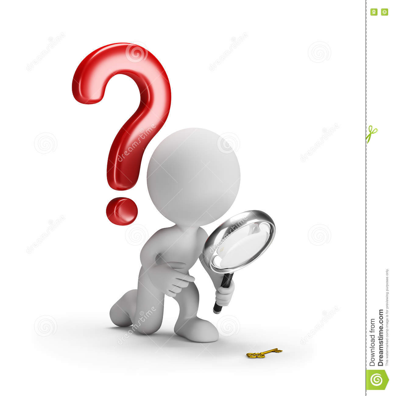 3d person with magnifying glass and question mark stock images image - 3d Man With Magnifying Glass Royalty Free Stock Photography