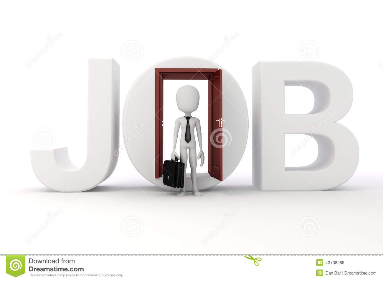 d man new job opportunity concept stock illustration image 3d man new job opportunity concept
