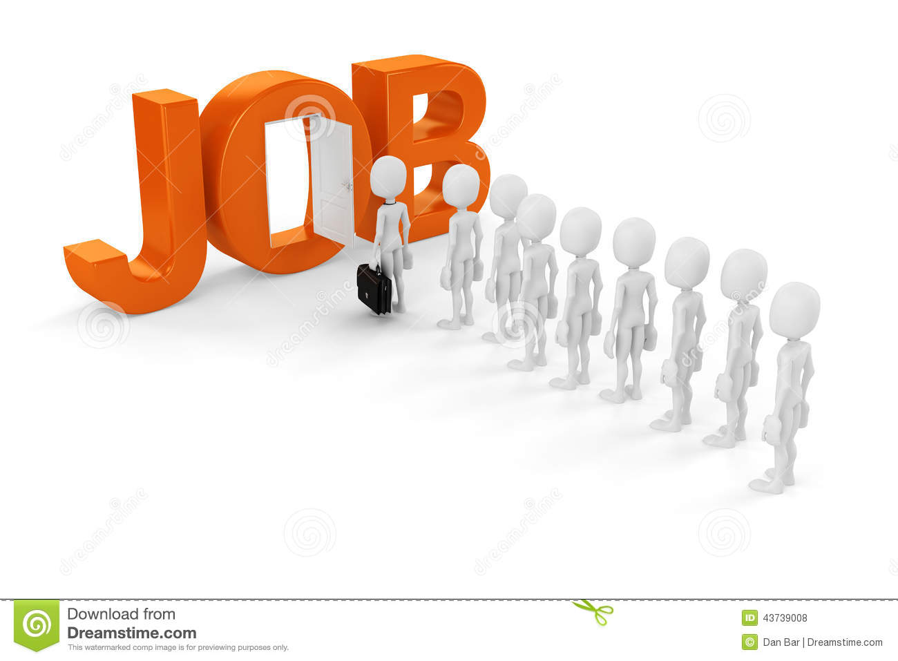 d man new job opportunity stock illustration image  3d man new job opportunity