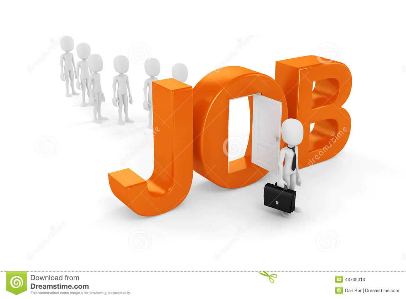 d man new job opportunity stock illustration image  3d man new job opportunity stock photos